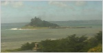 Mounts Bay webcam from the Mounthaven Hotel, overlooking St. Michaels Mount on the south coast of Cornwall.