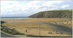 Mawgan Porth webcam by the Merrymoor Inn, near Newquay, Cornwall. Streaming webcam