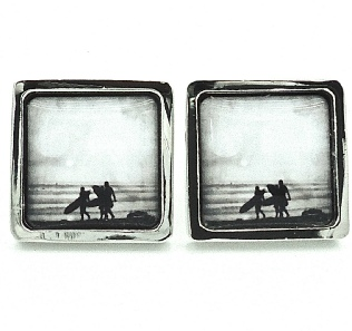 Surfer Cufflinks - Black and White - Surfer Collection